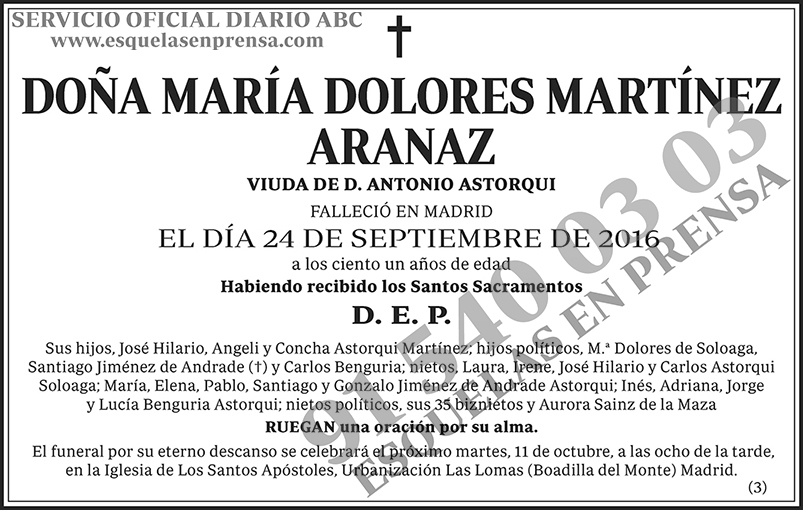María Dolores Martínez Aranaz
